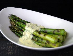 Grilled Asparagus, Sauce Gribich at 1700 Degrees Steakhouse in Harrisburg