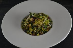 Chopped Kale Salad with Maple Pecans, Pickled Beets, Pear, Cheddar, Tarragon Yogurt Dressing at 1700 Degrees Steakhouse in Harrisburg PA