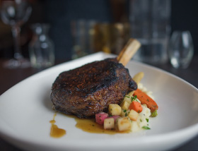 Grass Fed Veal Chop. Dinner at 1700 Degrees Steakhouse in Harrisburg, PA
