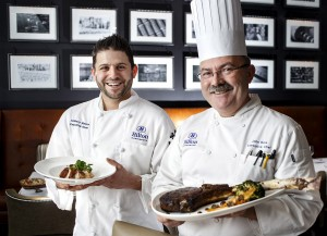 Chef John Reis and Chef Anthony Bianco together at 1700 Degrees Steakhouse in Harrisburg, PA