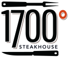 1700 Degrees Steakhouse Logo. Prime Steak. Fine Wine. Rare Spirits. Harrisburg PA