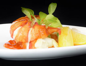 Poached Cold Water Lobster Tail. Dinner at 1700 Degrees Steakhouse in Harrisburg, PA
